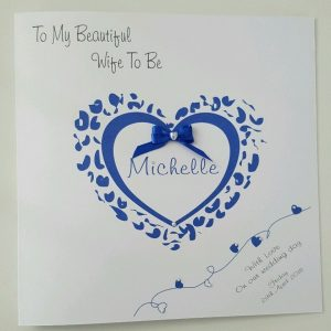 Personalised Wedding Card Husband Or Wife To Be Any Colour (SKU811)
