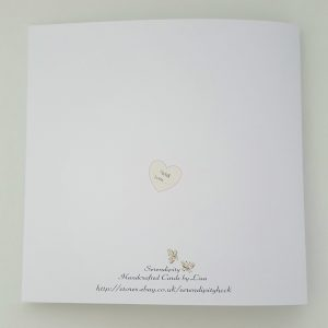 *Large Stunning Personalised Wedding Day Card Pink Ivory Brother Sister In Law*