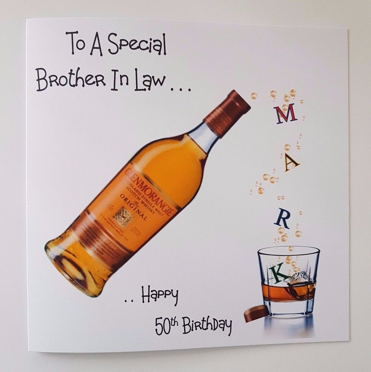 Personalised 50th Birthday Card Brother