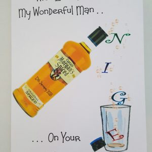 Personalised 65th Birthday Card Spiced Rum Husband Any Relation, Age Or Bottle (SKU718)