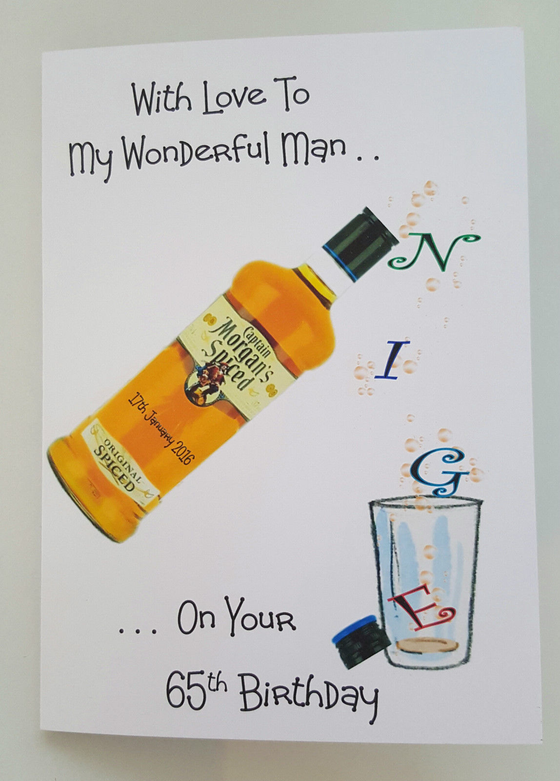 Personalised Birthday Card Husband