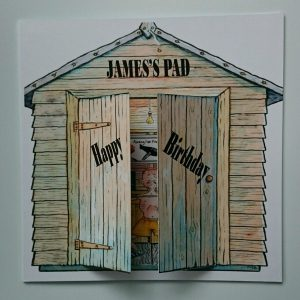 Personalised 8 x 8 Birthday Card Garden Shed Son Uncle Grandad Any Relation Any Event