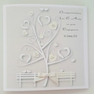 Personalised Engagement Card In Ivory Any Couple Or Colour LGBT Gay Same Sex Civil (SKU757)