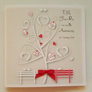 Personalised On Our Anniversary Card Fiancé Girlfriend Boyfriend Any Year Colour