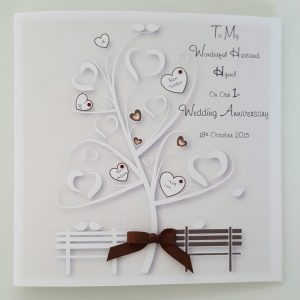Personalised On Our Wedding Anniversary Card Husband Wife Any Occasion Any Year Any Colour
