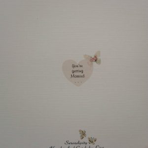 Handmade Personalised Wedding Day Evening Acceptance / Regret Card 6 x 6