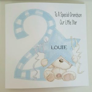 LARGE PERSONALISED 2ND BIRTHDAY CARD GRANDSON NEPHEW SON GODSON 1ST 3RD 4TH 5TH