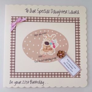 *LARGE Personalised Boofle Birthday Card Daughter 13th 16th 18th ANY AGE PERSON*