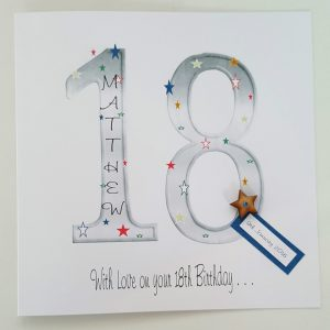 Large Personalised 18th Birthday Card Grandson Friend Godson Brother Son AnyAge
