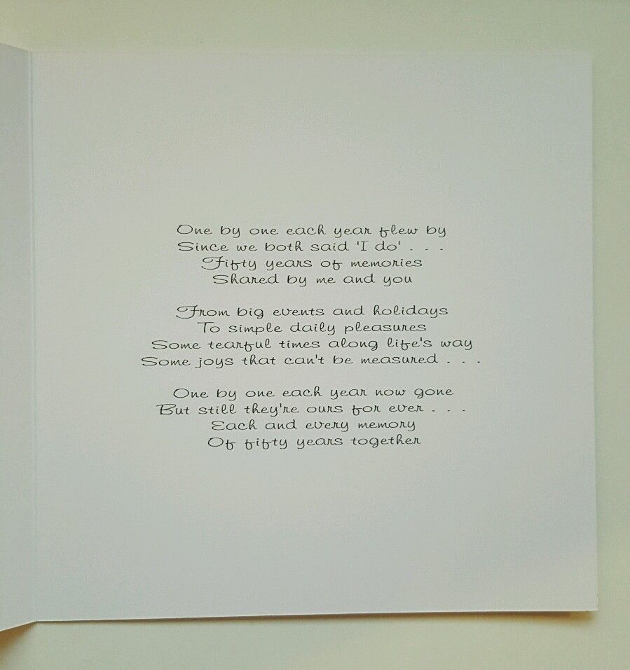 large personalised 50th golden anniversary card wife