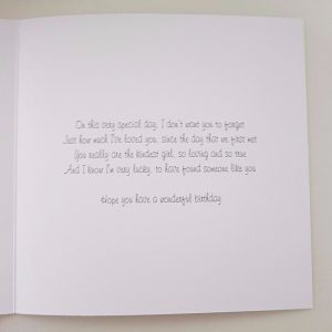 Personalised 8×8 Birthday Card Wife Sister Mum Any Relation Any Occasion