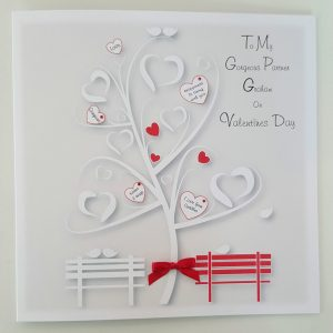 Personalised 8×8 Valentines Card Partner One I Love Any Person Any Occasion Any Colour