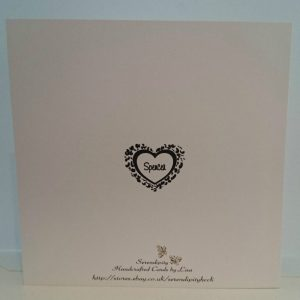 Large Personalised Wedding Card Husband Wife To Be Black Boxed Option Any Colour