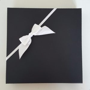 Personalised 8X8 Wedding Card Husband Wife To Be Black Boxed Option Any Colour
