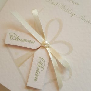 Personalised 30th Pearl Anniversary Card Husband Or Wife Any Year Or Colour (SKU740)