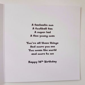 Personalised Birthday Card Doncaster      Football Rugby Son Dad Grandad Nephew Uncle Friend  Any Team
