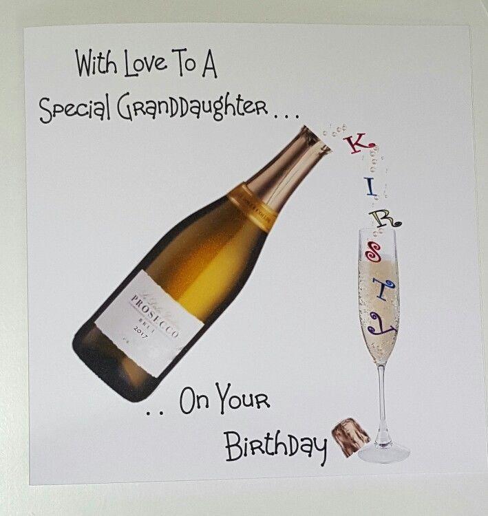 Personalised Birthday Card Granddaughter 21st