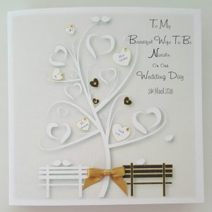 Personalised Our Wedding Day Bride Or Groom To Be Black & Gold Any Colour (SKU758)