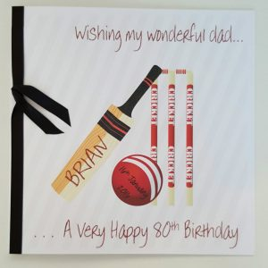 Personalised 8 x 8 Birthday Card Father Son Any Relation Any Age Any Colour