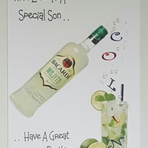 Personalised Mojito Birthday Card Son Any Relation, Age Or Tipple (SKU326)