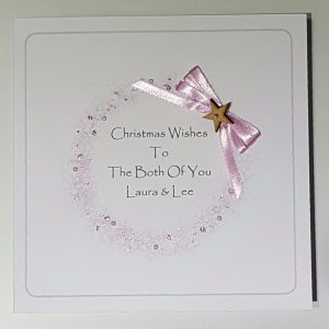 Personalised 8×8 Modern Christmas Cards Both Of You Any Relation Any Colour