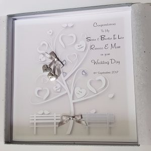 Personalised Mr & Mrs Wedding Card Money Wallet Silver – Sister Brother In Law