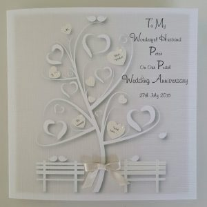 Personalised Pearl Wedding Anniversary Card Husband Wife Any Year Any Colour