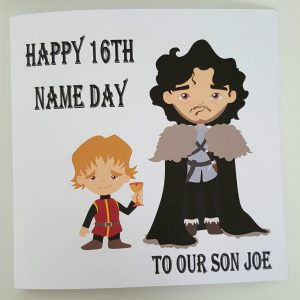 Personalised 16th Birthday Card Game Of Thrones Theme Son Any Person Or Age (SKU406)