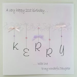 Personalised 21st Birthday Card Daughter Any Relation, Age Or Colour (SKU746)