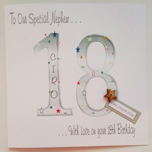 Large Personalised 18th Birthday Card Grandson Son Any Relation Any Age Any Colour