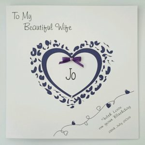 Personalised Birthday Day Card Wife Any Person Or Colour (SKU701)