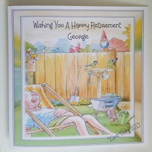 Personalised Retirement Card Any Person, Occasion Or Age (SKU377)