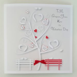 Large Personalised Valentines Card With-Without Gift Box Fiance Someone Special