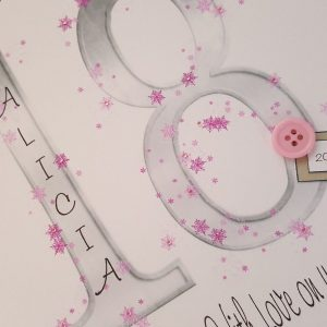 Personalised 18th Birthday Card Niece  Any Person, Age Or Colour (SKU289)