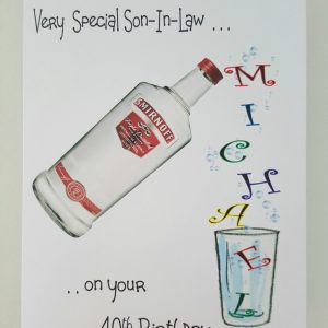 Personalised Birthday Card Smirnoff Vodka Bottle Any Relation Any Tipple