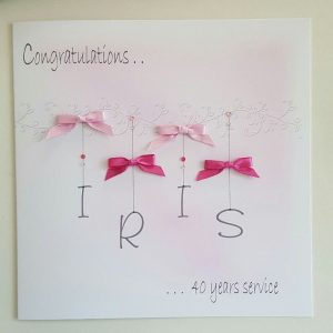 Personalised Congratulations Card / 20 30 40 Years Service / Well Done / Retirement / Good Luck / Gift Boxed Option / Gift Wallet Option