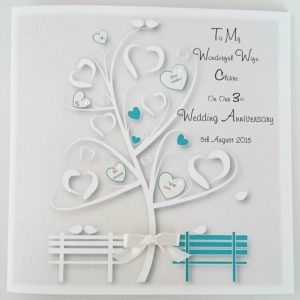 Personalised On Our Wedding Anniversary Card Wife Husband 1st 2nd 3rd 4th 5th