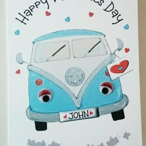**Personalised Valentines Card VW Camper Boyfriend Husband Wife Girlfriend Wife*