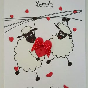 Personalised 8 x 6 Valentine's Day Card Girlfriend Boyfriend Any Relation Any Colour