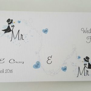 Personalised Wedding Card & Money Gift Wallet Gay Same Sex Marriage Engagement