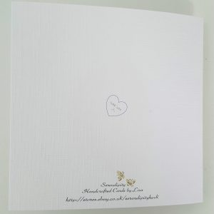 Stunning Personalised Wedding Day Card – ANY COLOUR Engagement, Anniversary