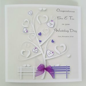 Stunning Personalised Wedding Day Card Any Relation Any Event Any Colour