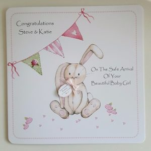 New Baby Boy or Girl Keepsake Frame And Matching Greetings Card Born In 2018