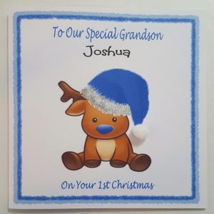 Personalised 1st Christmas Card Grandson Granddaughter Any Relation (SKU437)