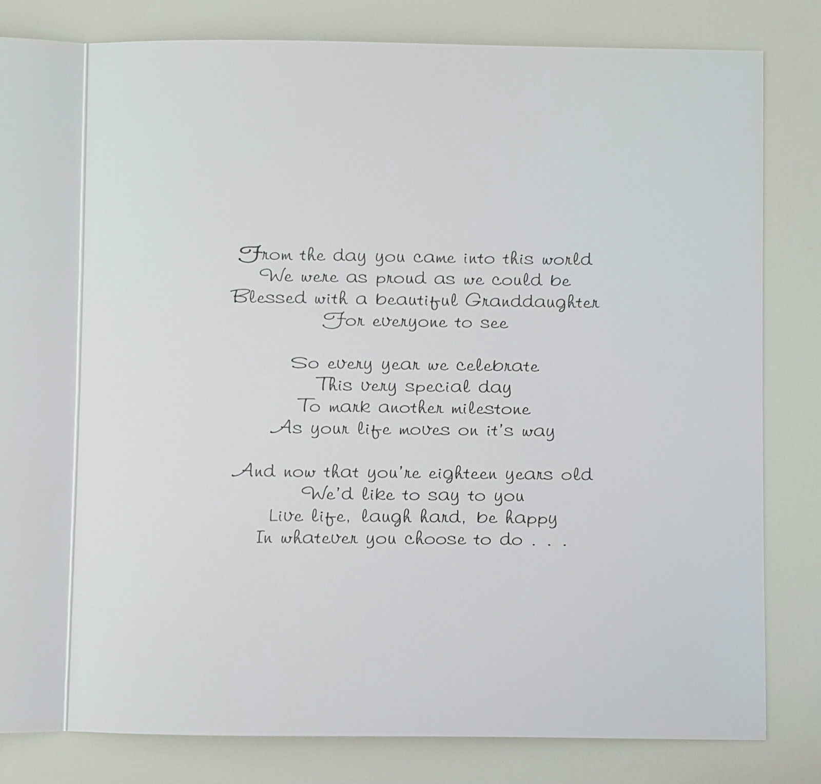 Large Personalised 18th Granddaughter Birthday Card