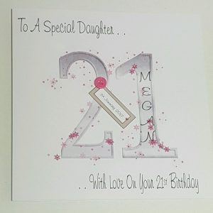 Large Personalised 21st Birthday Card Daughter Goddaughter Niece Any Colour Age