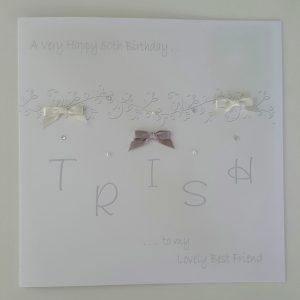 Large Personalised Birthday Card 50th Friend Auntie Mum Sister Gran Daughter