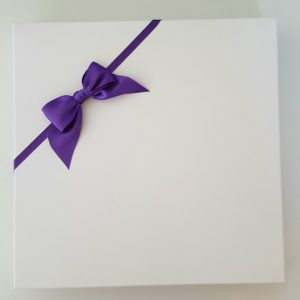 Personalised 8 x 8 Birthday Day Card Wife Girlfriend Cadbury Purple Any Relation Any Colour