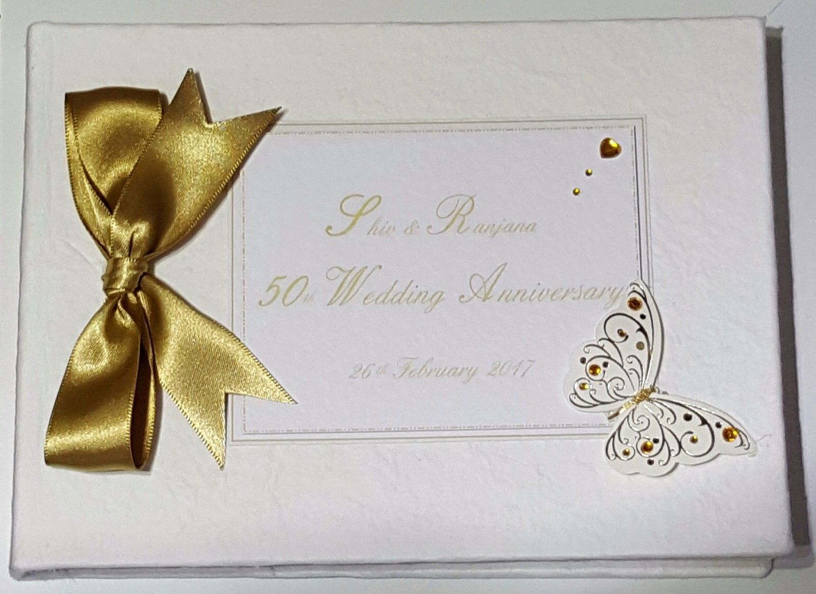 50th Anniversary Gift For Husband: Personalised 50th Golden Anniversary Card Husband Wife