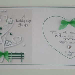 Personalised Birthday Money Wallet Mum 70th Any Person Any Age Any Colour